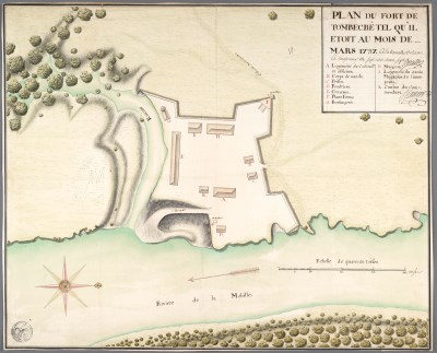 1736 map of Fort Tombecbe