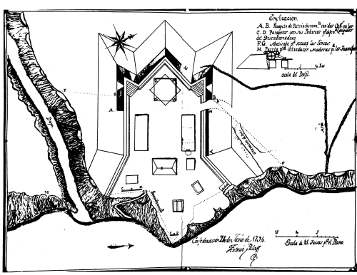 1794 map of Fort Confederation