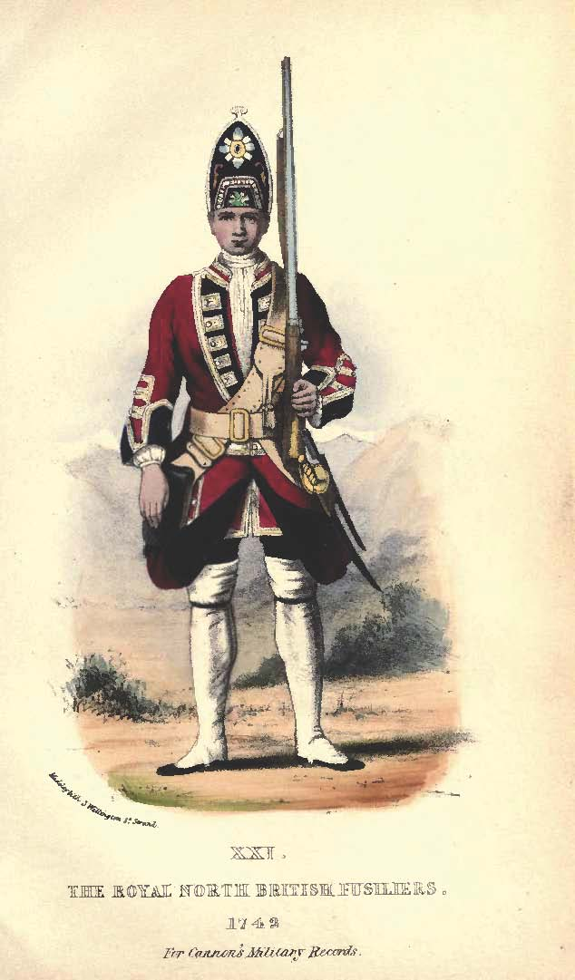 Private soldier of the British 21st Regiment of Foot